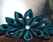 Deep Lagoon - Silk Tsumami Kanzashi Flower Headband