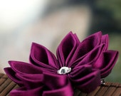 Japanese Silk Flower: Kanzashi Style Hair Flowers, Purple - Orchid Blossom