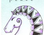 ArtAfterDark ACEO - PEACE - Original by Janette