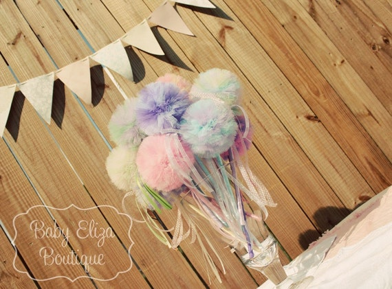 Tutu pom pom wand with PRIORITY shipping upgrade