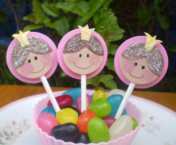 little Princess cup cake toppers