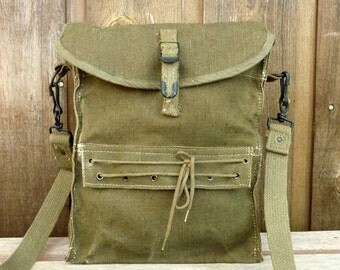 Rare Vintage French Military Mini Messenger Bag