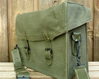 Vintage French Military Satchel.....One Incredible Messenger Bag