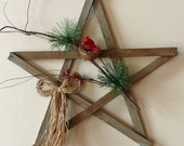 Rustic Wood Star Wall Hanging and Natures Friends