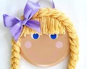 Rapunzel Braided Hair Bow Holder Organizer- Thicker, Longer Hair