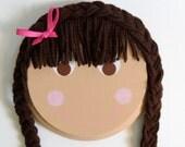 Rapunzel Braided Hair Bow Organizer Holder