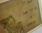 Zombie Friendship Card