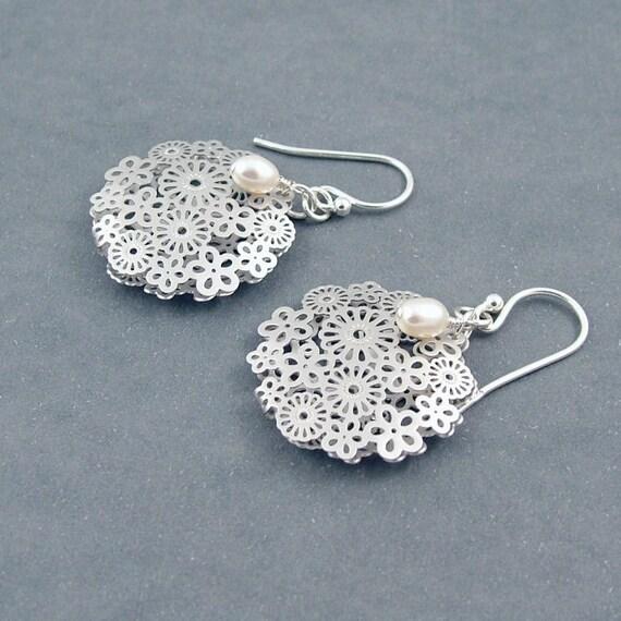 Lace Flower Earrings