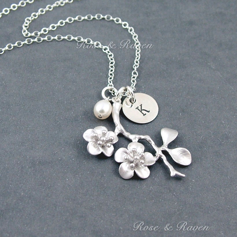 Cherry Blossom Necklace Personalized Necklace With Custom