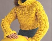 Cropped Bobble Pullover Sweater