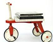 SALE Vintage Midcentury Bright Orange Blazon Pedal Car Tricycle Trike
