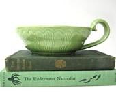 Vintage Shawnee Art Pottery Candlestick Spring Green Shallow Succulent Planter