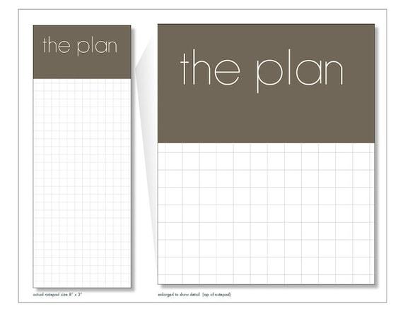 the plan // notepad // list // to do // graph paper // skel // skel design // skel & co