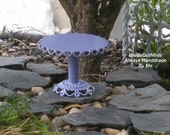 Miniature Garden Side Table, Dollhouse Table, Lilac