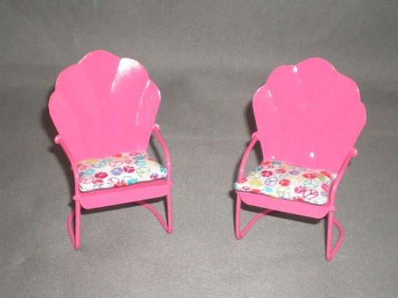 Dollhouse Furniture, Miniature Furniture, Dollhouse Chairs, Miniature Garden Chairs