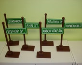 Unique custom wooden hand painted table top street sign centerpiece birthday wedding party baby shower unique decor