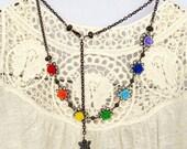 """Happy Karma Rainbow Necklace (""""2"""")"""