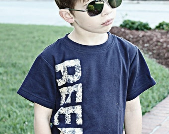 Toddler Name Shirt - Personalized Distressed Name T shirt - NO INK - Sizes 12m to 8. Click for colors, Free Shipping