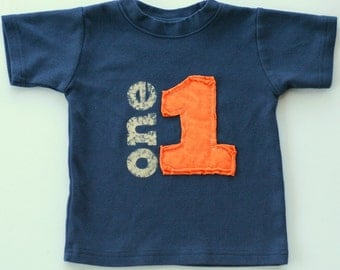 Toddler Birthday shirt, Layered Applique Number, (No Ink) 1st birthday, 2nd birthday, 3rd birthday, 4th birthday, Free Shipping