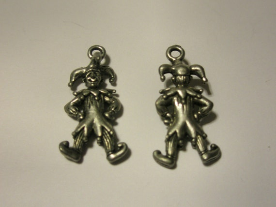 3D Pewter Jester Charm (Set of 2)