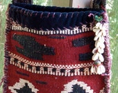 TURKISH VELVET Carpetbag -- Holiday SALE--Boho, Tribal, upcycled, One of a kind - Ready to Ship