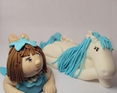 A Girl and Her Horse - Cake Topper Set