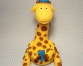 Birthday Giraffe Cake Topper
