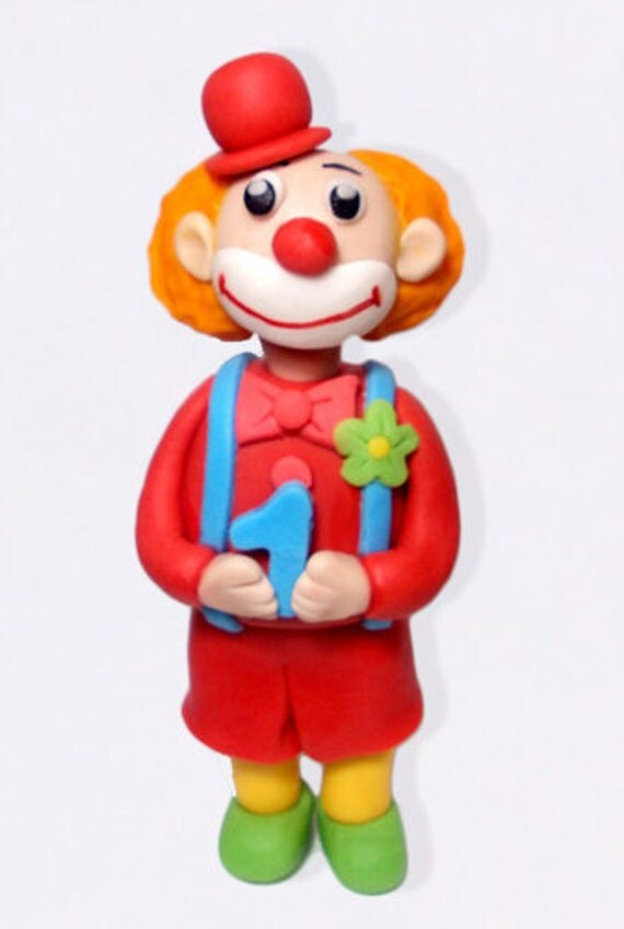 Clown Cake Topper for Birthday Parties or Circus Events