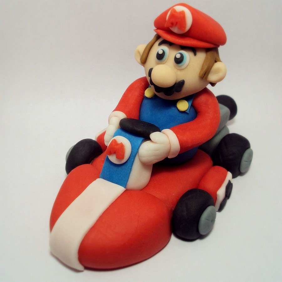 Mario Kart Cake Topper By Sweettouchdecor On Etsy