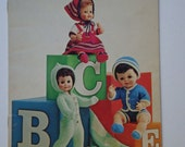 Vintage Just For Dolls Pattern Booklet by Patons Beehive No.139 for Baby and Barbie dolls