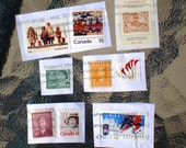 Vintage Canadian Stamps Set of 9 Assorted