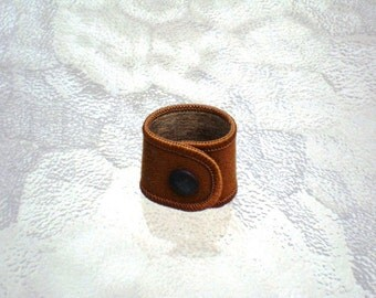 Vintage Scouts Canada Necker Slide in Brown Scouting Official Scout Slide Uniform Slide Earbud Holder Cord or Cable Keeper
