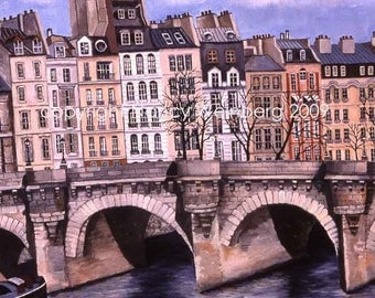 Pont Neuf Bridge Paris Digital Print