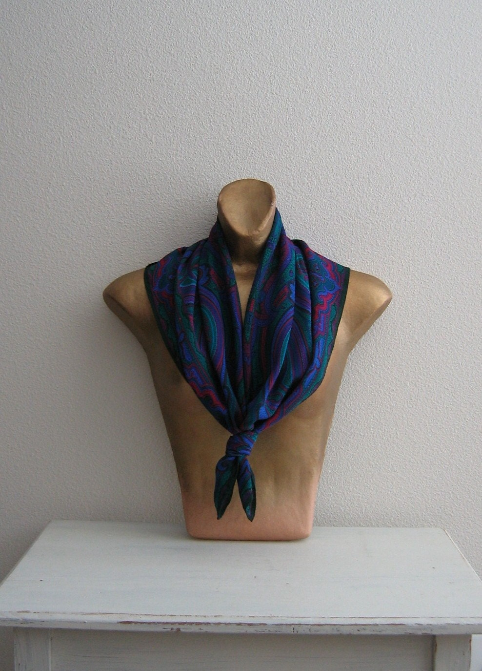 Vintage Liz Claiborne Jewel Tone Silk Scarf by MatildaFair on Etsy Vintage Silk Scarves
