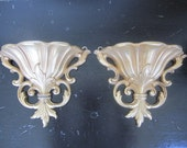 2 Vintage Syroco Wall Sconces