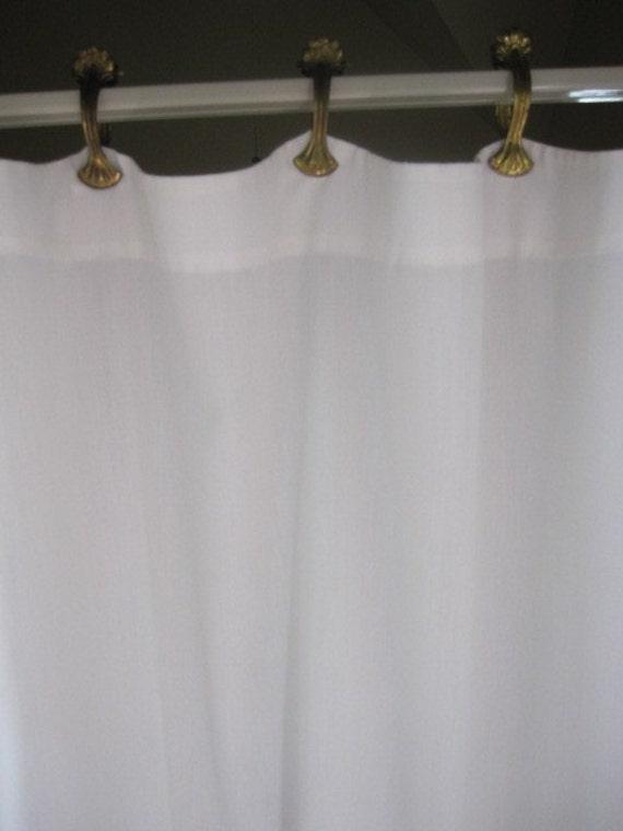 vintage curtains drapes window curtains 2 white cotton cafe