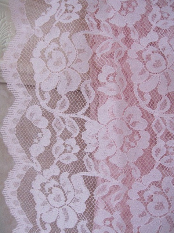 Vintage Lace, Lace Fabric, Pink Lace Fabric 60 wide x 30 long