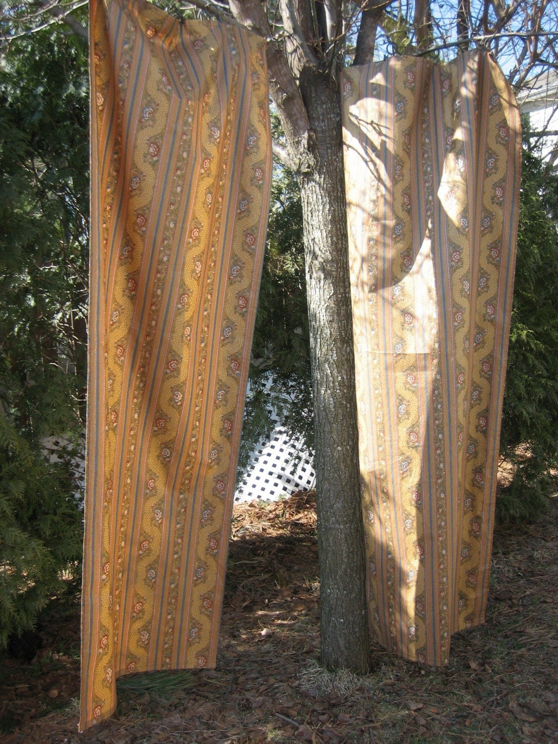 Reduced vintage curtains drapes two old world by for Old world curtains and drapes