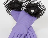 Diva Gloves to wash Dishes and Clean Purple Black and White Zebra