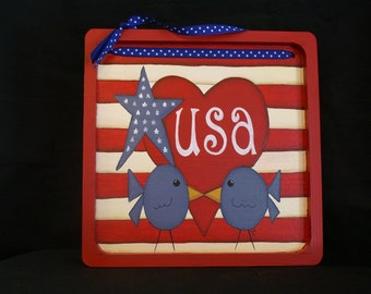 Patriotic USA Sign