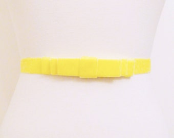 Buttercup Yellow Velvet Bow Belt