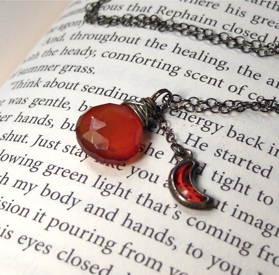 Fire Affinity Necklace Sterling silver oxidized