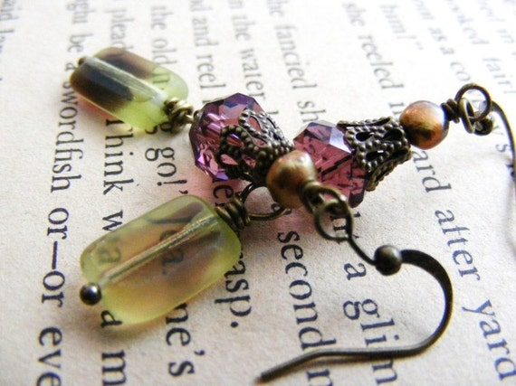Your Majesty Plum and Pear Elegant Earring Dangles