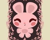 Bashful Bunny - Limited Edition Mini Print