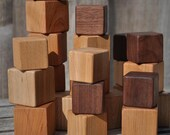 Wooden Cube Blocks - Hardwood