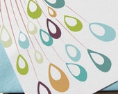 Pretty Peacock Plumes Thank You Notes and Gift Tags (set of 12)