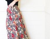 High Waisted Jungle Maxi Skirt