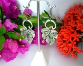 Leaves of Beauty - Antique Silver Earrings