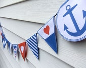 DIY Nautical Bunting Template (PDF) - Wedding, Bridal Shower or Party Decoration