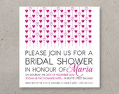 Bridal Shower Invitation (sample) - Heart Collection